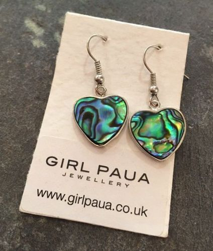 Paua Heart Earrings PE03-H